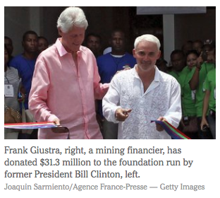 Frank Guistra ve Bill Clinton.