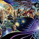 artistic rendition of new age thinkers